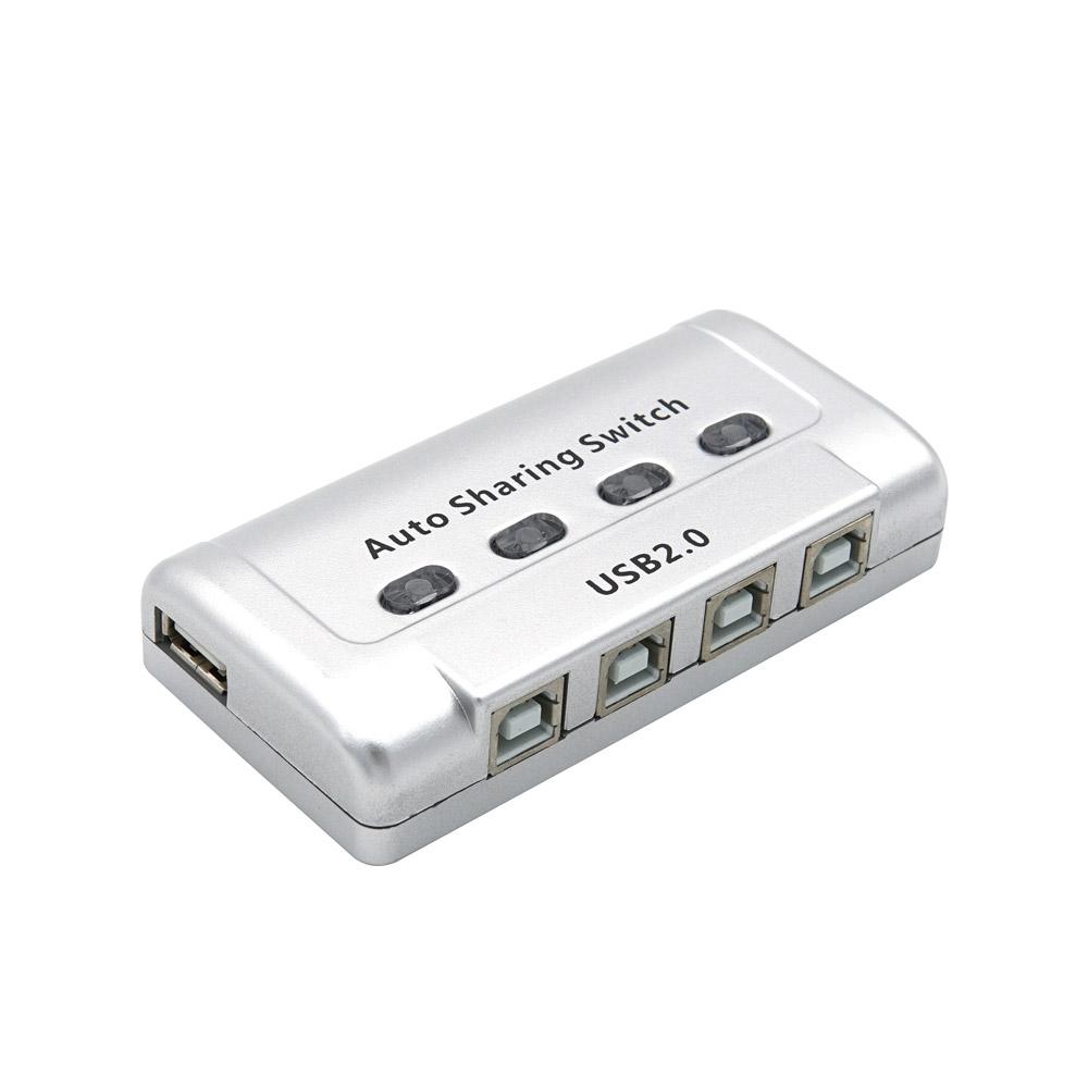 컴스 4대1 USB 수동 공유 선택기, TB012