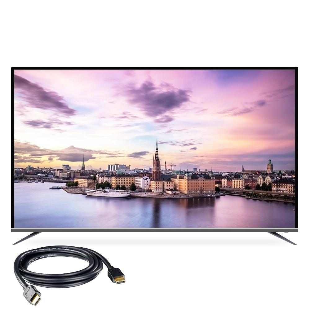 시티브 UHD 189cm 프리미어 무결점 HDR10+ LG IPS패널 TV PA750HDR10 + HDMI 케이블, 스탠드형, 방문설치