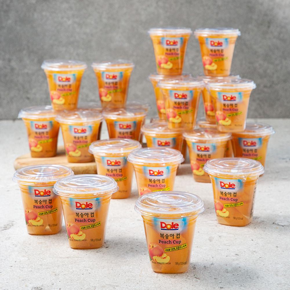 돌 복숭아컵, 198g, 24개