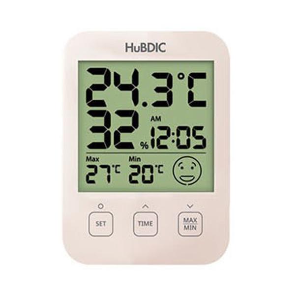 휴비딕 디지털 시계 온습도계 아이콘 HT-7 베이지, 1개