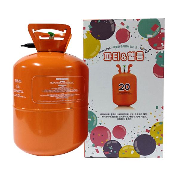 파티친구 고순도 헬륨가스 20개용 저압, 혼합색상, 1개