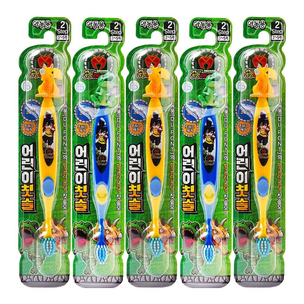 아텍스 공룡메카드 피규어 어린이칫솔 아동용 Step2, 랜덤발송, 5개