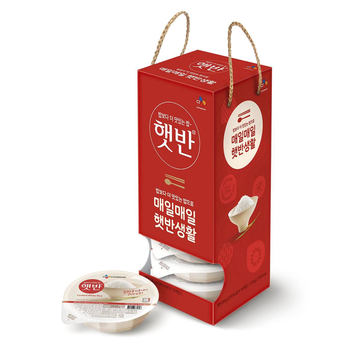 햇반 매일 백미 즉석밥 박스, 180g, 10개