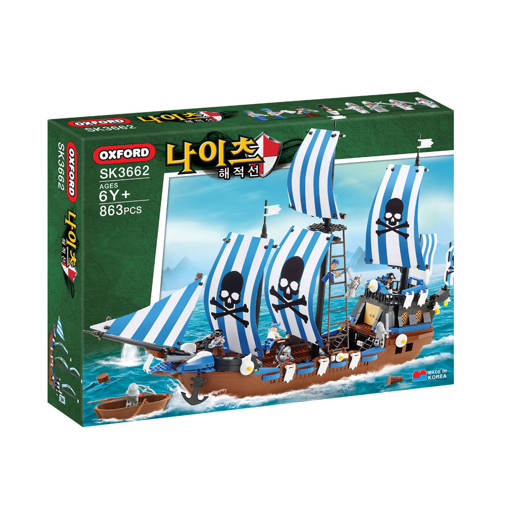 옥스포드 나이츠 해적선 블록놀이, 혼합색상