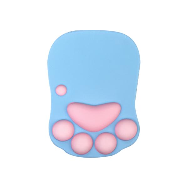 고양이 손목보호 젤 마우스패드 NP-501, 블루, 1개