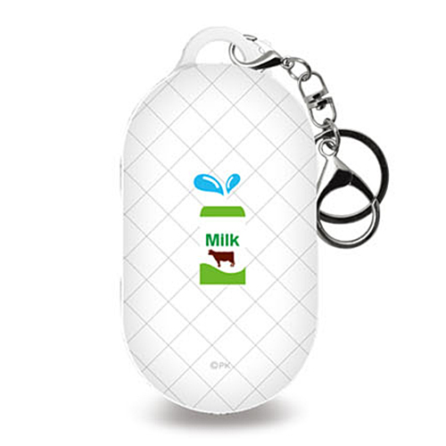 미니모리 모던 디자인 갤럭시 버즈 / 플러스 케이스 + 키링, 단일상품, 편의점 우유