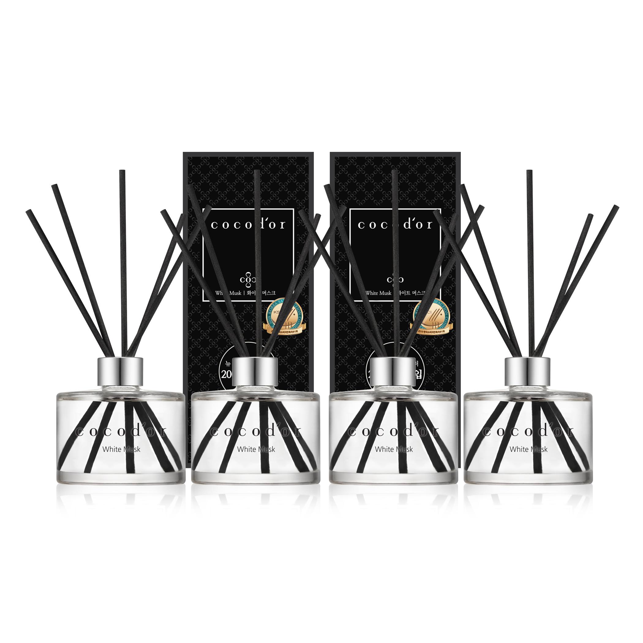 코코도르 뉴 디퓨저 200ml x 4p, 화이트머스크