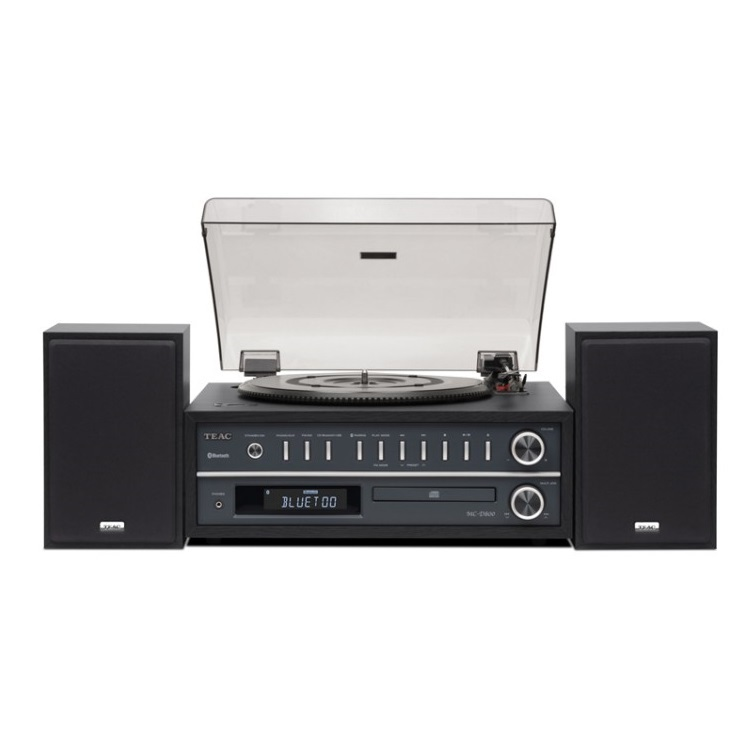 티악 올인원 턴테이블 오디오 Black, MC-D800