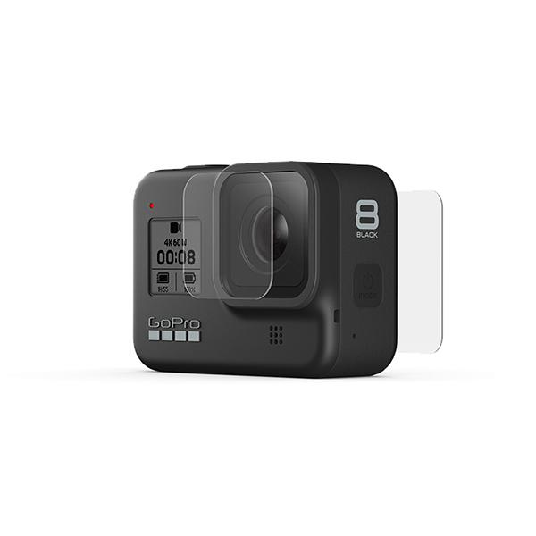 고프로 히어로 8 블랙 곡면형 유리렌즈 + 액정보호필름 세트, 1세트