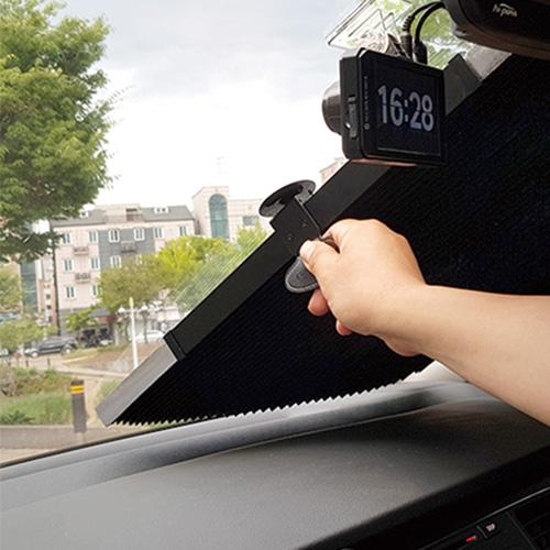 카늘 카리개 차량용 햇빛가리개 65 x 3.5~160 cm + 흡착판 3p 세트, 혼합색상, 1세트