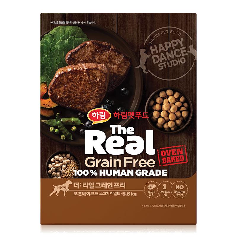 하림 펫푸드 어덜트 소고기 더리얼 그레인프리 오븐베이크드 강아지 사료, 소, 5.8kg