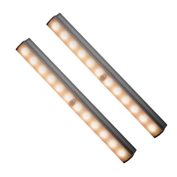 애니탁 LED 센서라이트 2p, 옐로우