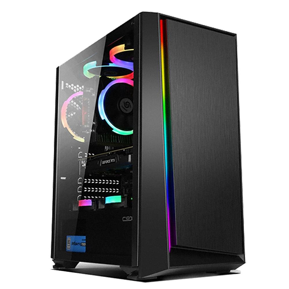 아싸컴 게임용 조립 PC AS-IM25V7 (라이젠5 마티스 3500X WIN미포함 DDR4 16GB SSD 240GB GTX1660 슈퍼) + 게이밍 장패드, 기본형