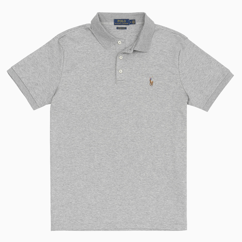 폴로 랄프 로렌 남성용 커스텀 슬림 소프트 코튼 폴로 티셔츠 MNPOKNI1N820332020
