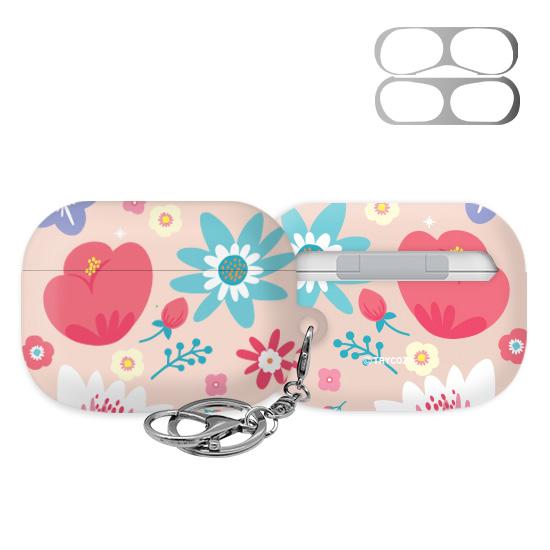 트라이코지 디자인 봄날 3D곡면 에어팟프로 하드 케이스 + 철가루방지 스티커 + 키링, 단일상품, 05 005