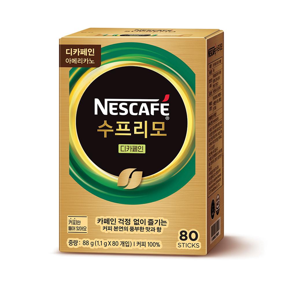 수프리모 디카페인 아메리카노 커피 스틱, 1.1g, 80개