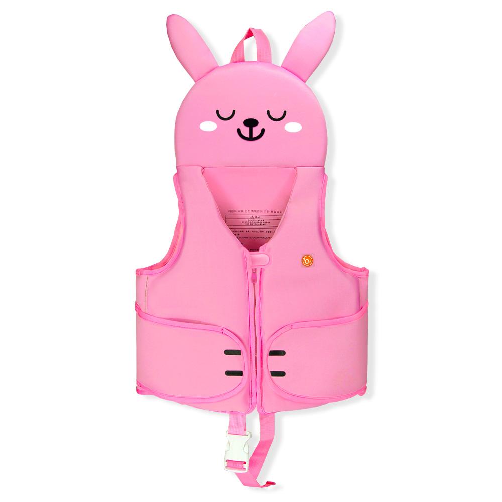 bayb 유아동 허그미 스윔자켓 수영조끼, 핑크래빗