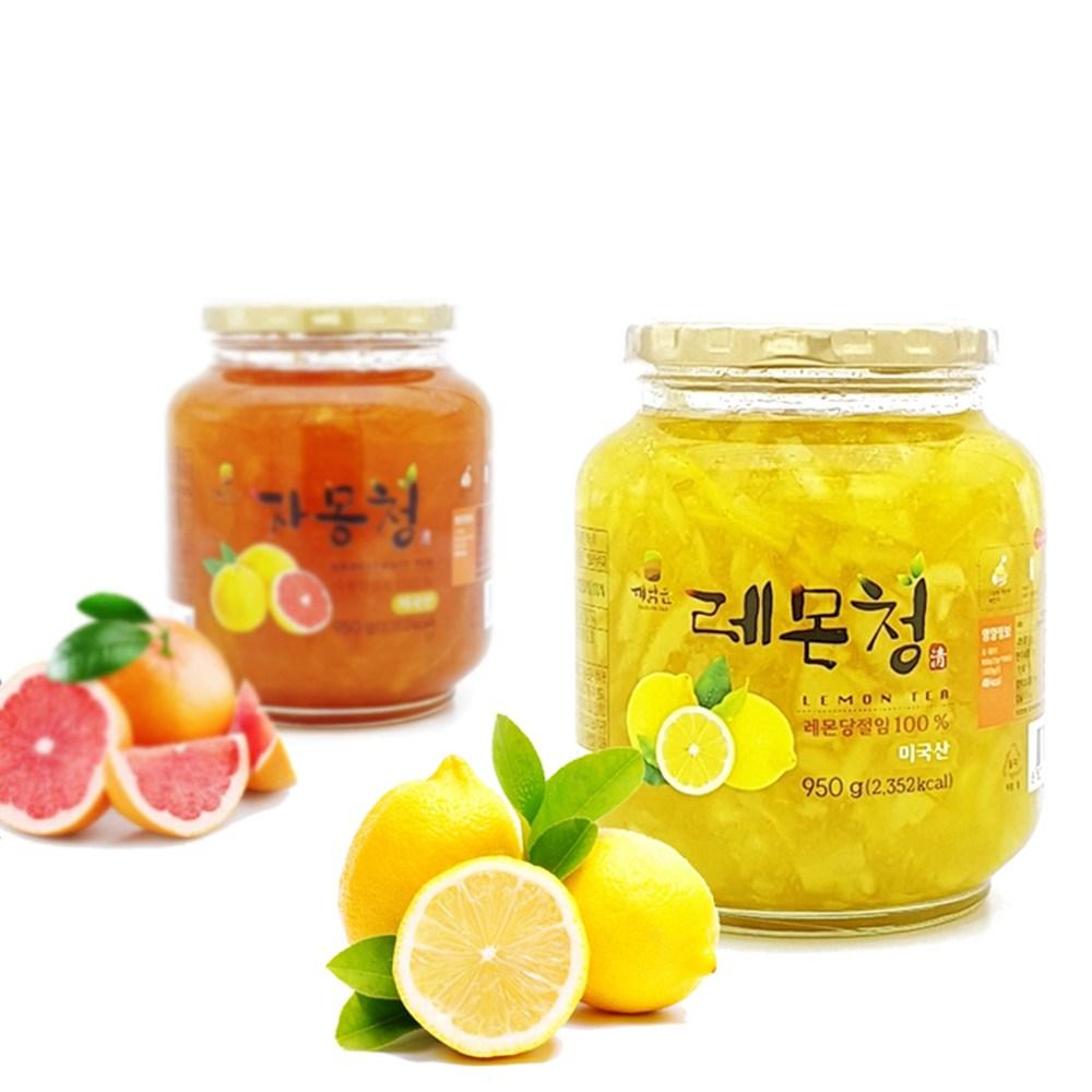 견과공장 자몽청 950g + 레몬청 950g, 1세트