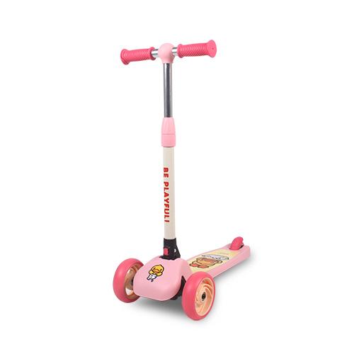파파스토이 비덕 캐릭터 접이식 LED 바퀴 킥보드 2020년, 핑크