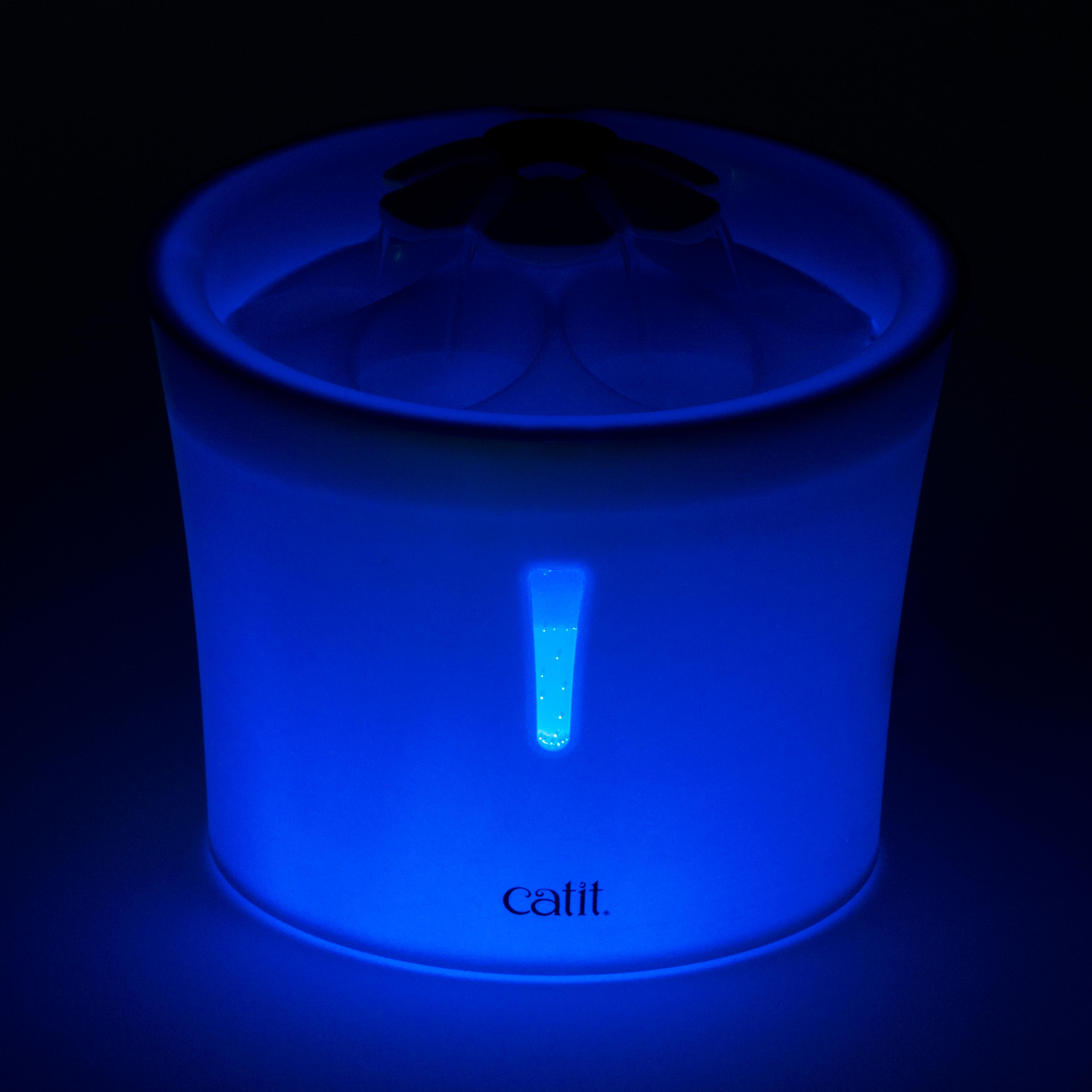 캣잇 LED 플라워 고양이 정수기 3L, 혼합색상