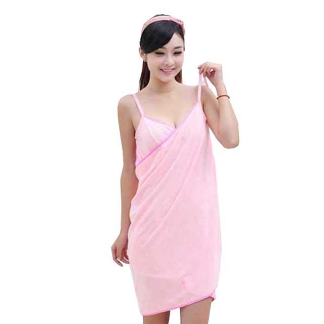 섹시 샤워타올 가운, 핑크, 1개