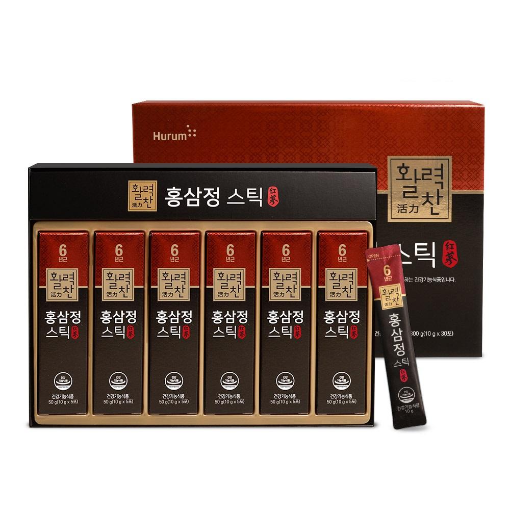 [홍삼정 활력진액] 휴럼 활력찬 홍삼정 스틱, 10g, 30개 - 랭킹2위 (82070원)