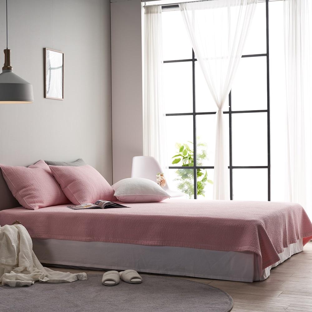에코데코 로지 고정밴딩 침대패드, 핑크