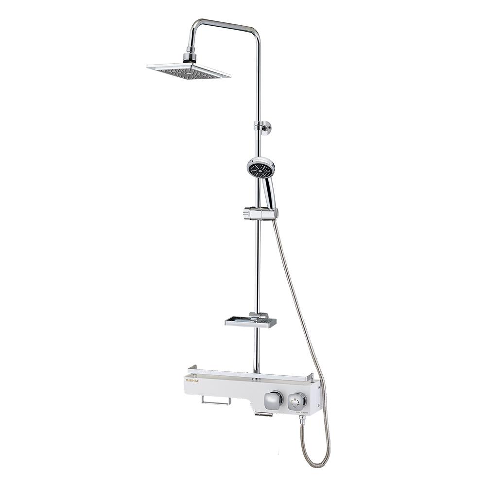 미리내 선반형 해바라기 샤워기 31W 화이트, 1개