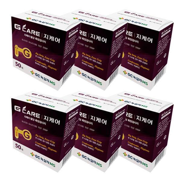 GC녹십자MS 지케어 혈당 측정검사지, 50개입, 6개