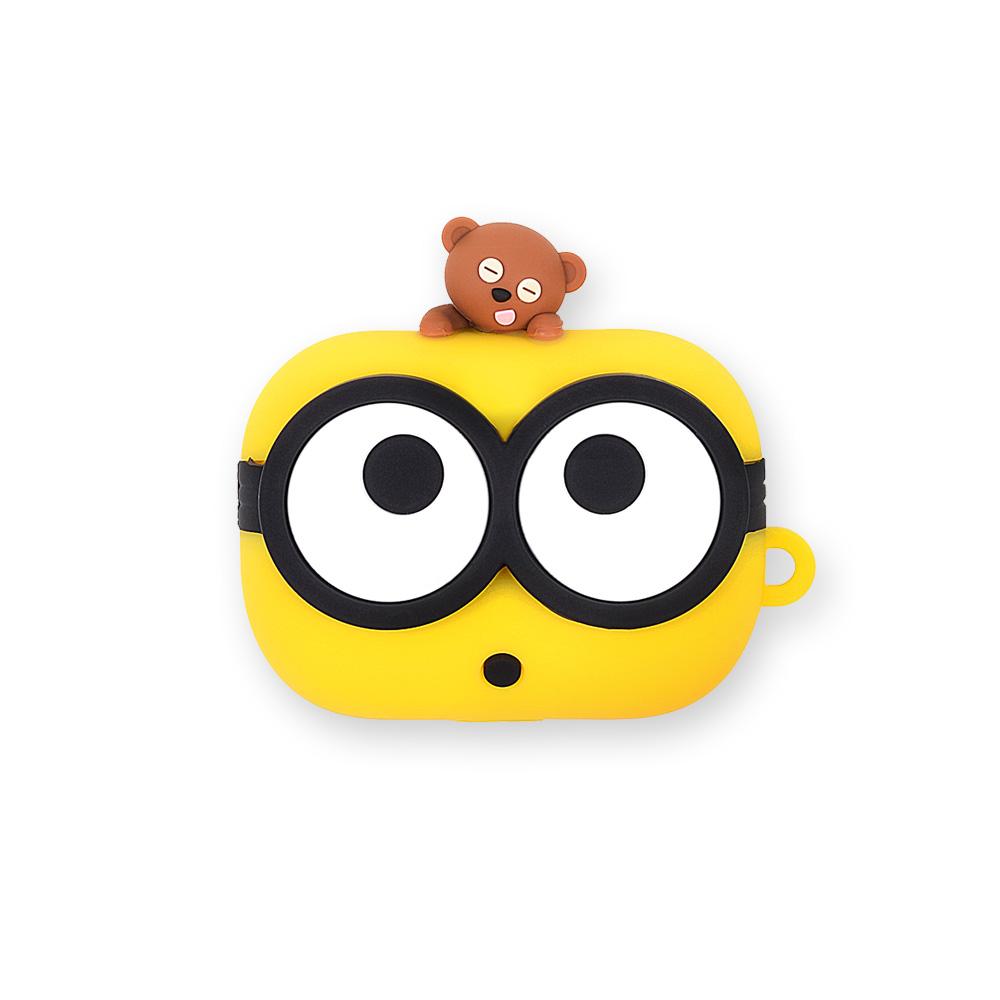 미니언즈 BOB 에어팟 프로 실리콘 케이스, 단일상품, 혼합색상
