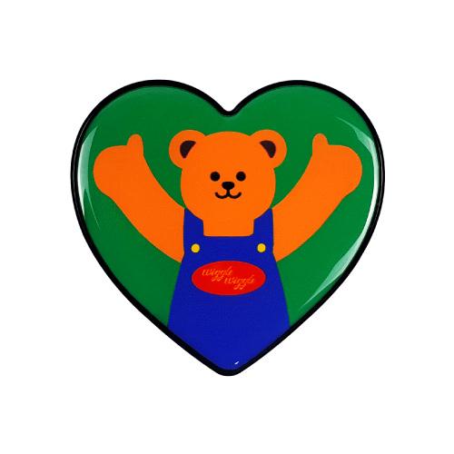 위글위글 하트 그립톡 휴대폰 거치대, Bear, 1개