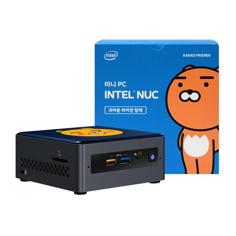 인텔 NUC Kits 카카오프렌즈에디션 미니PC 반전매력 라이언 NUC7CJYH SSD + RAM 4GB (셀러론 Win10 Home RAM 8GB SSD 240GB UHD 그래픽스 600)