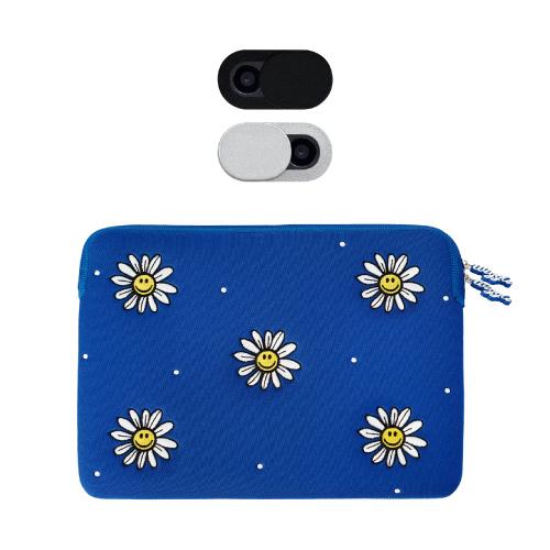 위글위글 노트북 파우치 33cm + 웹캠 커버 2종 세트, Smiles We Love