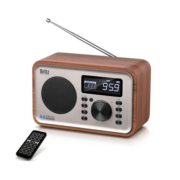 브리츠 레트로 FM 라디오 알람 블루투스 스피커, BA-C310, 혼합색상