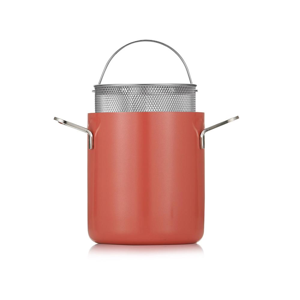 에델코첸 IH 통3중 쥬시 파스타냄비 + 인서트바스켓, 16cm, 선셋오렌지