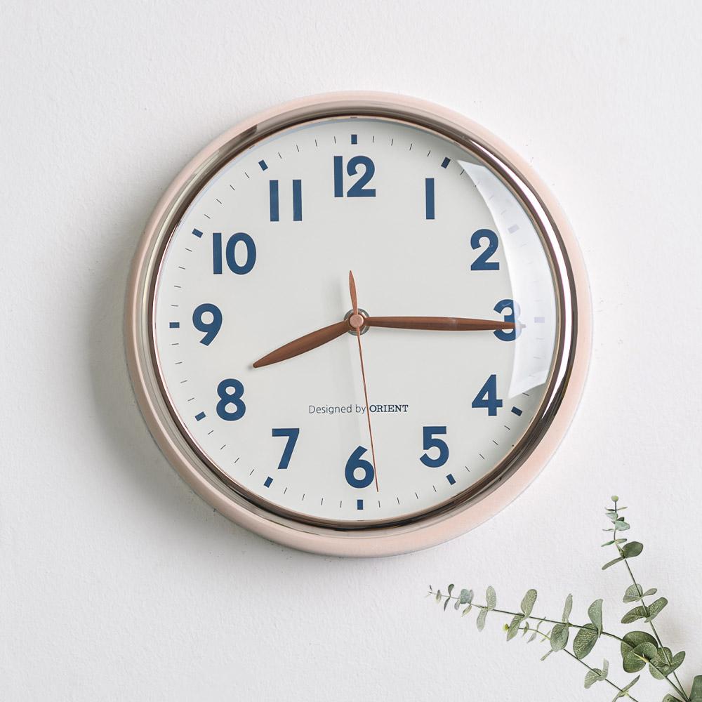 오리엔트 무소음 로즈골드 인테리어벽시계 OT884RG, 혼합색상