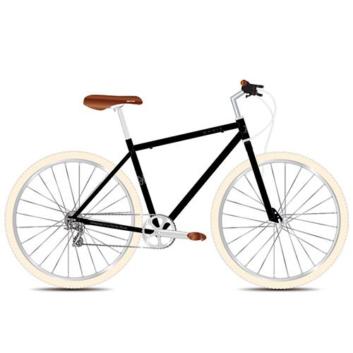 뮤트 메이미 22 7단 브이브레이크 하이브리드자전거, 블랙 + 그레이, 159cm