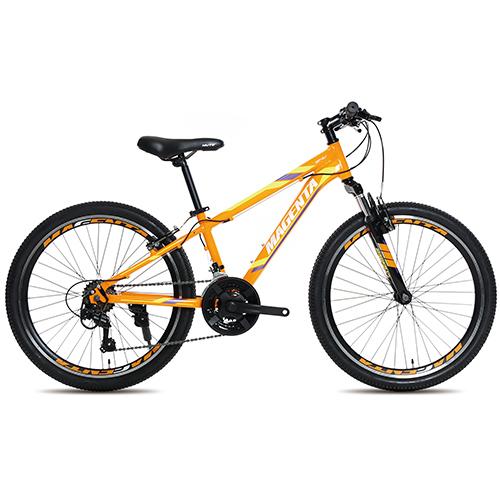 뮤트 마젠타 24V 21단 디스크브레이크 MTB자전거, 오렌지 + 옐로우, 159cm