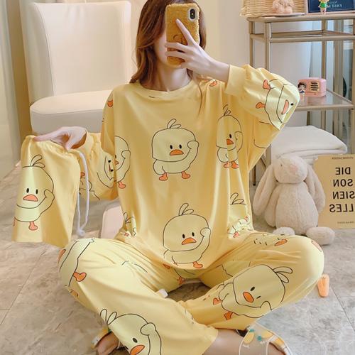 세컨핑크 여성용 박시한 오리야 파우치 + 투피스 잠옷 셋트 2022