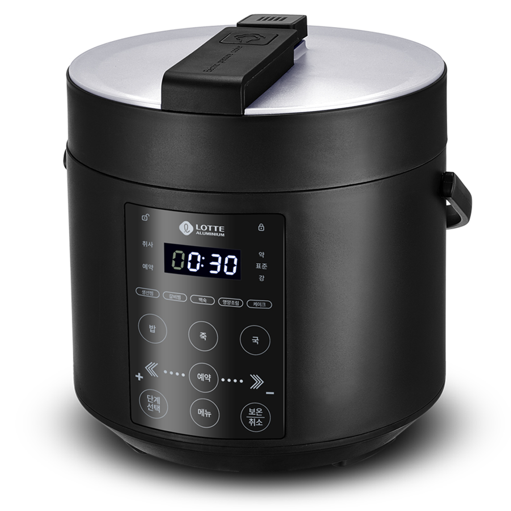 롯데알미늄 디지털 미니 전기 압력 밥솥 4인용, LRC30A(블랙)