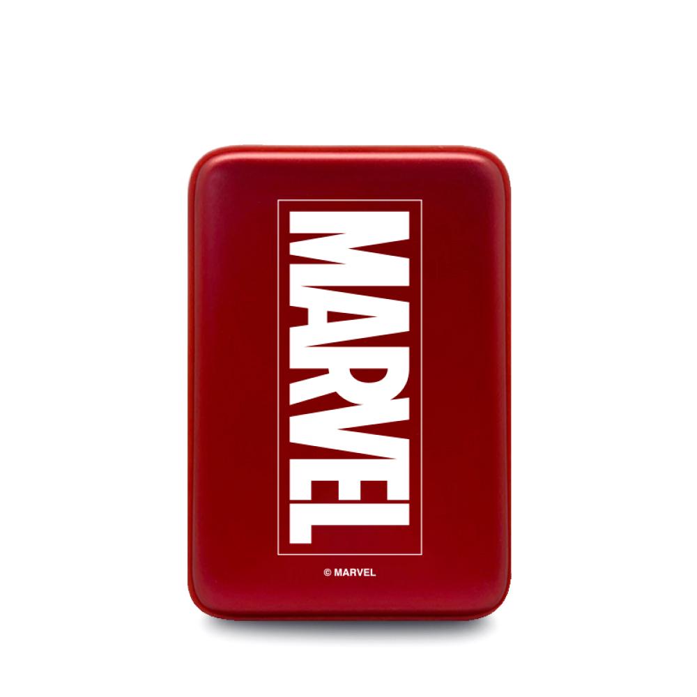 마블 어벤져스 캐릭터 USB 손난로 보조배터리 5000mAh HOT9, PDB-HOT9, 마블 레드