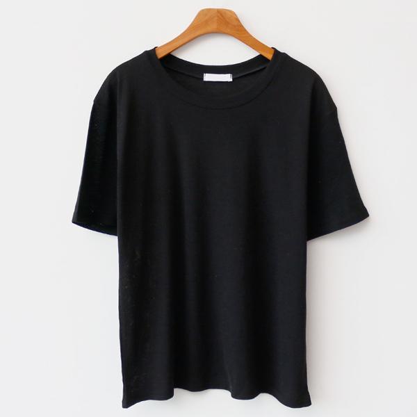 엔비룩 여성용 린넨 기본 반팔 티셔츠