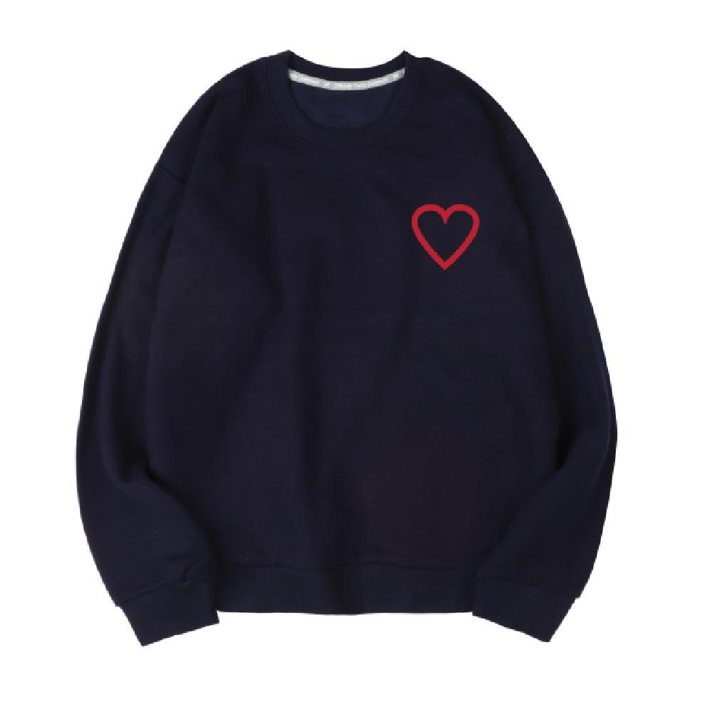 벤힛 A Heart 세미 오버핏 특양면 맨투맨
