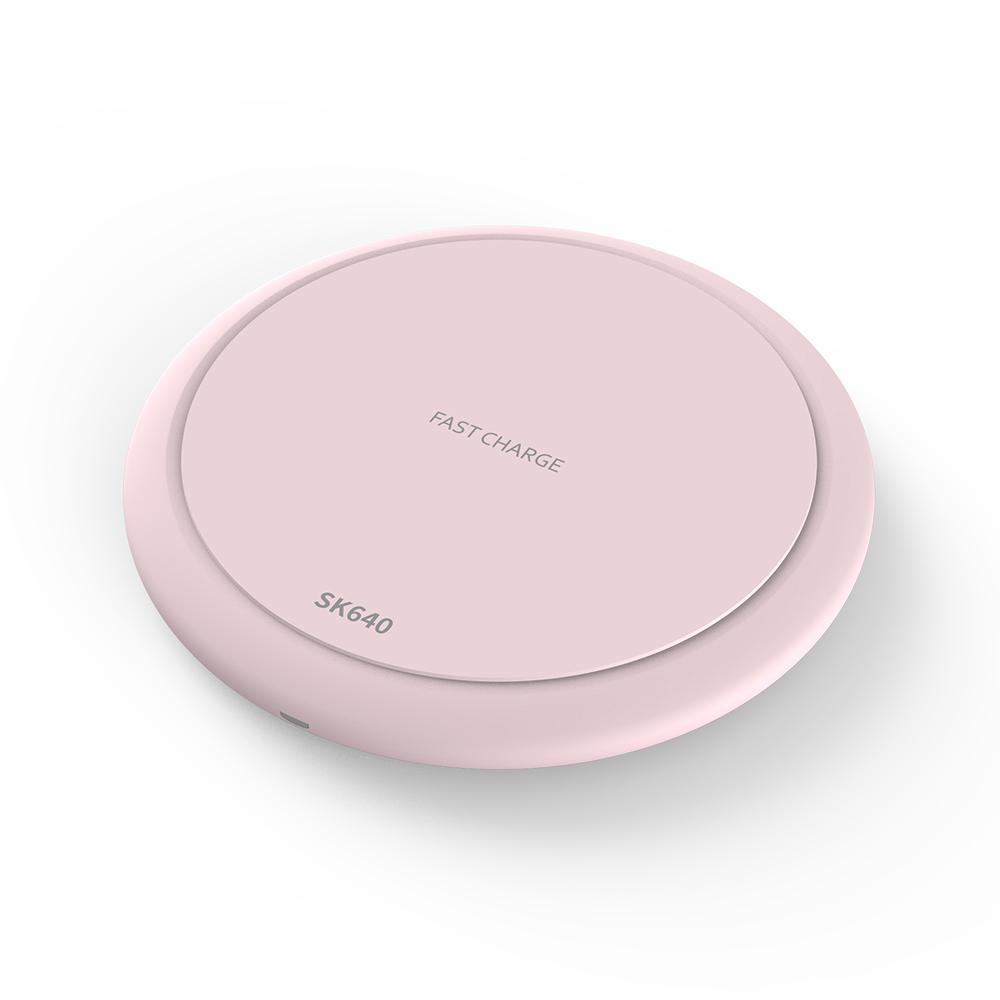 SKm&service 고속 무선 충전기 SK640, 핑크, 1개