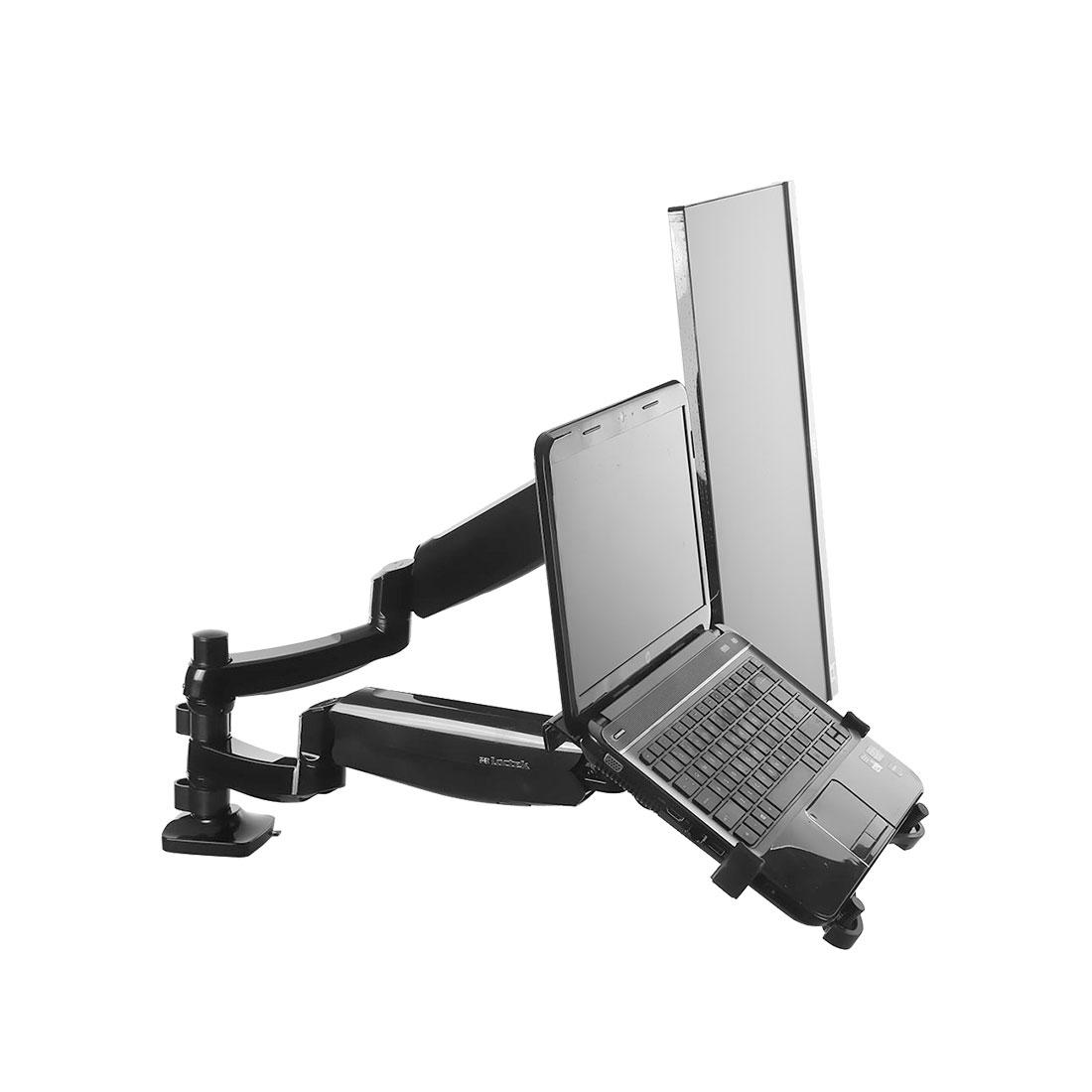 록텍 듀얼 모니터 암 노트북 거치대, D5DL, 혼합색상