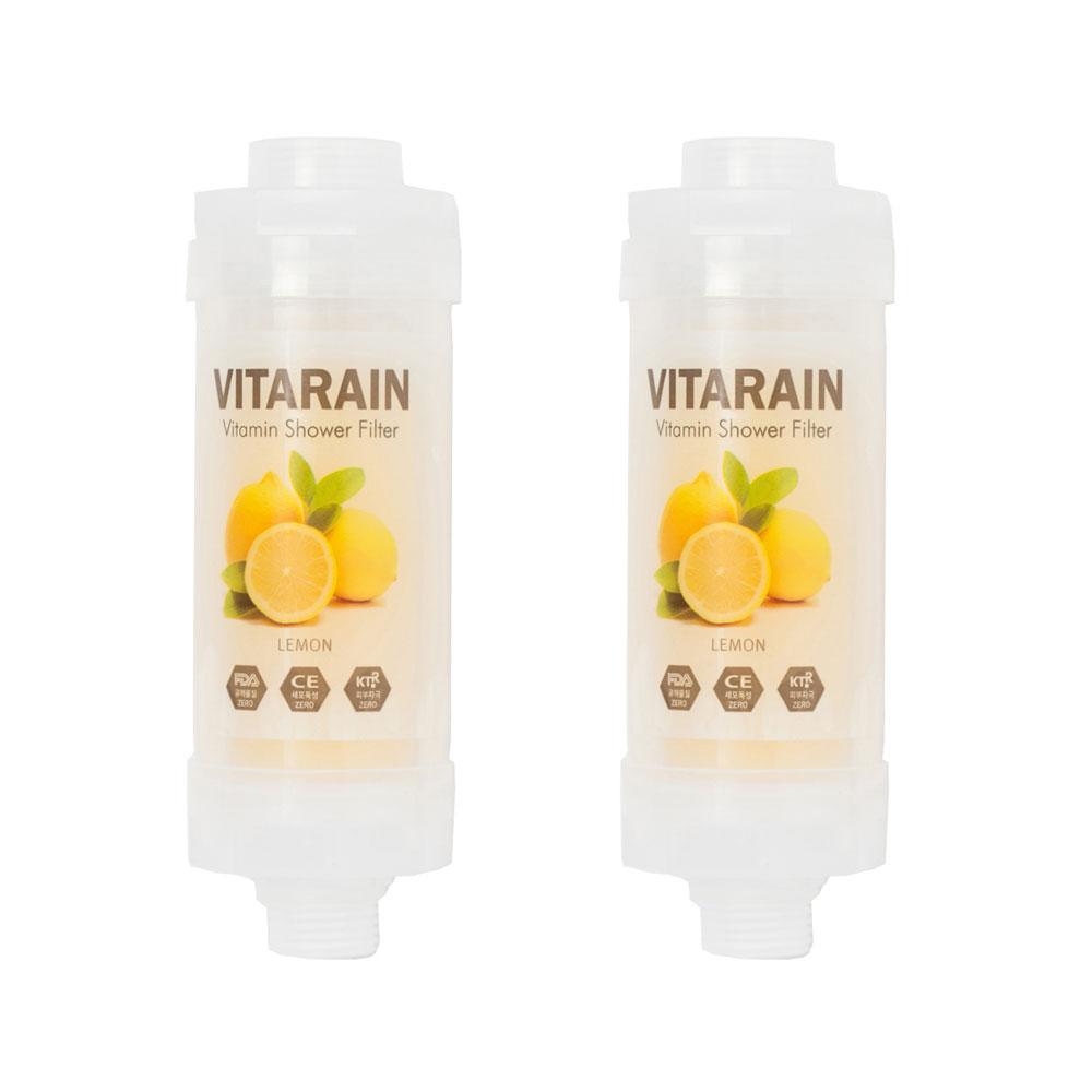 비타레인 비타민 샤워기 필터 레몬향, 2개