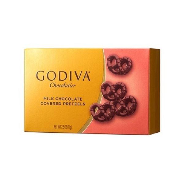 고디바 밀크 초콜릿 미니 프레첼, 71g, 1세트