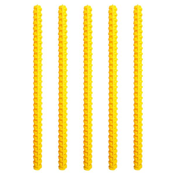 칼 루즈 제본 와이어링 3개입 5p, 10mm, 옐로우