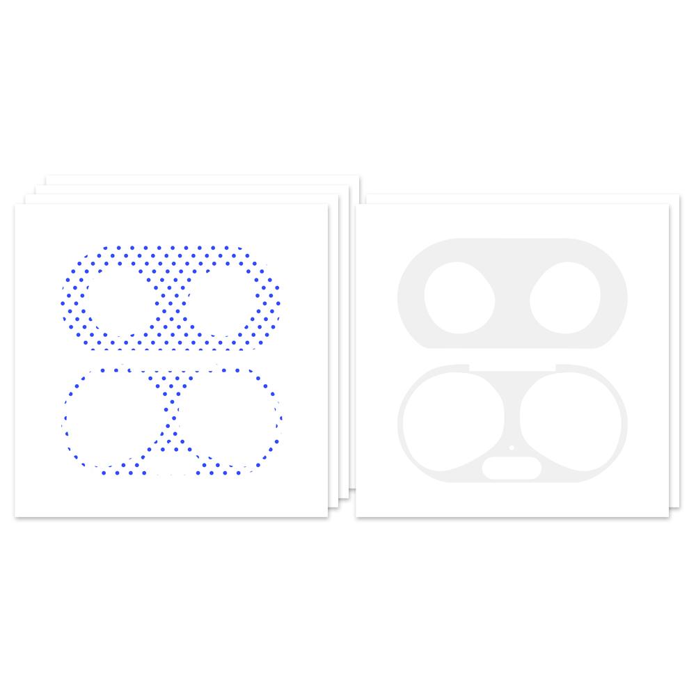 누아트 갤럭시 버즈플러스 철가루 방지 스티커 블루땡땡 4p + 투명 2p, 단일상품, 혼합색상