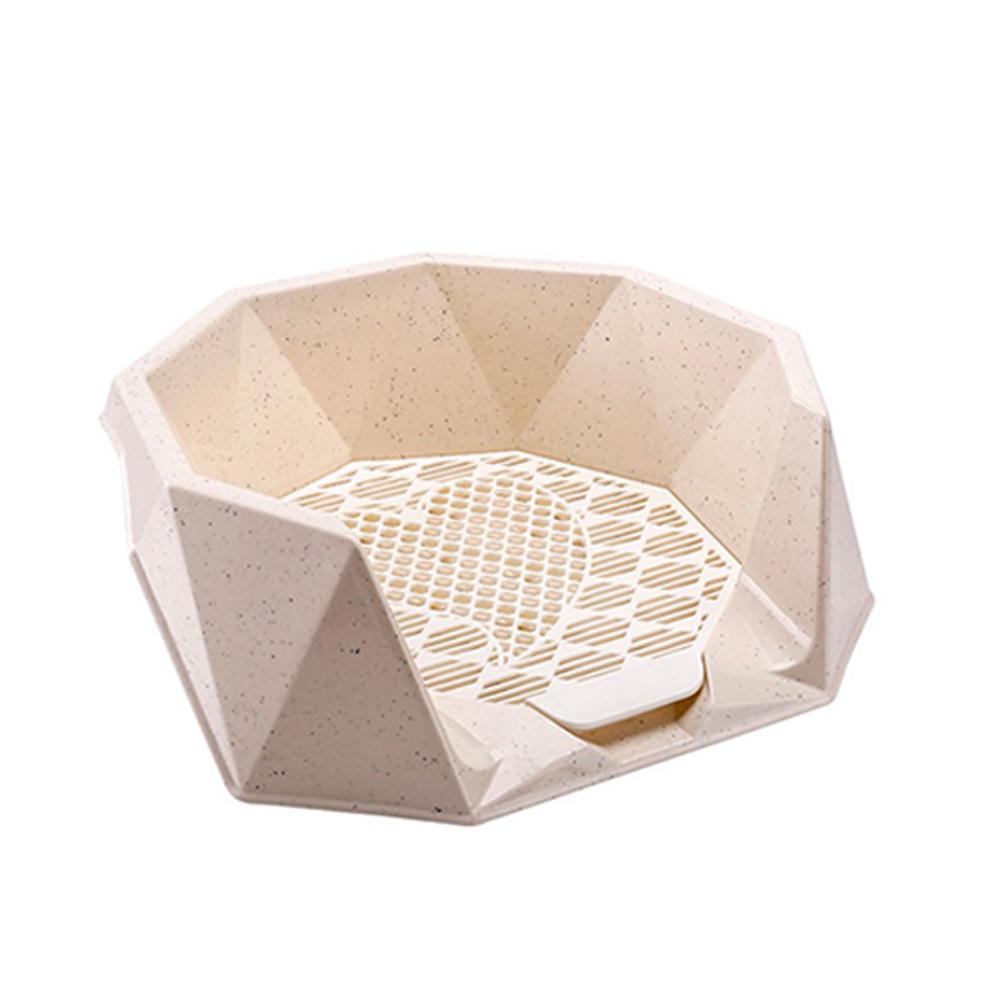 요기쏘 다이아몬드 인테리어 강아지 화장실, 베이지, 1개